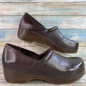 Bass Melinda Brown Leather Clogs